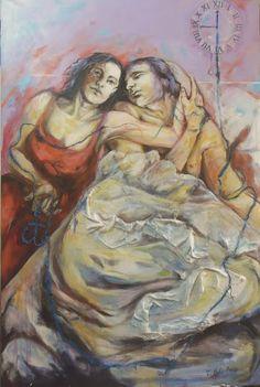 """""""Sul filo del tempo, una sola speranza"""", cm 120 x 80"""