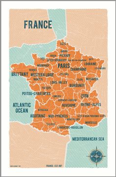 Map of France #Travel #Leisure