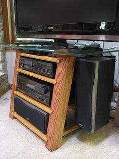 Home entertainment center side view