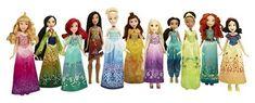 Disney Princess Shimmering Dreams Collection $99.99 At Target Disney Doll Collection:  11 Princess Dolls, Ariel, Aurora, Belle, Cinderella, Jasmine, Merida, Mulan, Pocahontas, Rapunzel, Snow White,  Tiana, dresses, shoes, accessories  https://api.shopstyle.com/action/apiVisitRetailer?id=605480695&pid=uid841-37799971-81