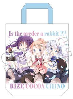 AnimeJapan 2017にて販売予定のグッズ情報を公開! -TVアニメ「ご注文はうさぎですか??」公式サイト-ココア・チノ・リゼの3人を描いた春らしいデザインのトートバッグです。裏