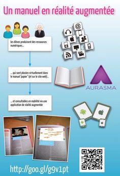 Les ressources du cours en réalité augmentée dans les manuels des élèves
