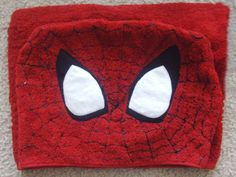 Spiderman Hooded Towel - One size towel fits little and big kids Off Black, Baby Crafts, Rugs Online, Big Kids, Bugs, Hoods, Spiderman, Etsy Seller, Arts And Crafts