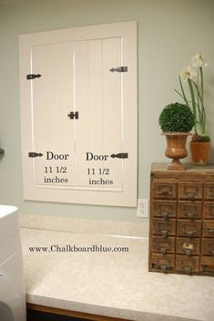 Chalkboard Blue: How to Build Shutters to brighten a Small Space Diy Interior Shutters, Diy Shutters, Kitchen Shutters, Cedar Shutters, Interior Windows, Kitchen Blinds, Indoor Shutters For Windows, Windows Decor, Big Windows