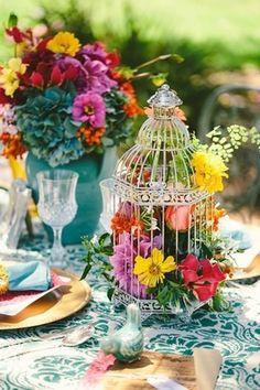Весенний декор свадебного стола
