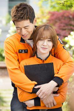 SBS Angel Eyes - Lee Sang Yoon and Goo Hye Sun's back hug. Aww...