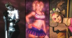 http://www.gamesta.com/meet-lollipop-chainsaws-quirky-sisters/    Gamesta.com has more news and videos of Lollipop Chainsaw. One sexy girl cheerleader chopping zombies in half isn't enough, so have two more quirky vixens with guns. They all wear their vaginas proudly and so they should!