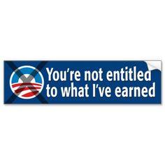 NO Entitlements: Anti-Obama Bumper Sticker