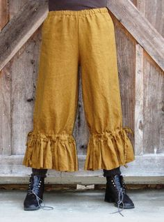 Reserved for whit1990 washed linen bloomer pant by linenclothing