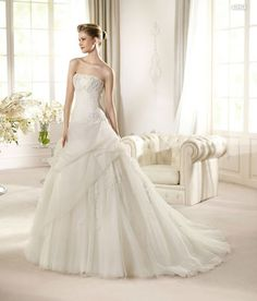Arna - Glamour (San Patrick) $292.99 #bridal gown #patrick) #bridal #(san #wedding #my wedding #arna #wedding dress #glamour