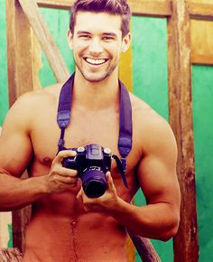 I try not to pin shirtless men, but there is just something about muscley men with stubble and cameras...