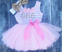 Erster Geburtstag-Kleid, rosa rosa Tutu Rock, 1. Geburtstag-Outfit, erste Geburtstag-Outfit, Kleinkind-Geburtstag