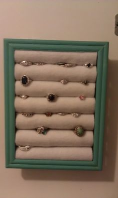 The Frugal Maven: DIY Ring Holder (part 3 of DIY Jewelry cabinet)