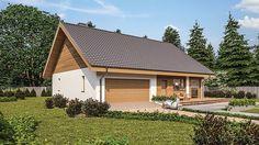 Projekt domu Murator C333u Miarodajny - wariant XVIII 99,20 m² - koszt budowy - EXTRADOM 20 M2, Home Fashion, Exterior, Cabin, House Styles, Home Decor, Houses, Sustainable Houses, Cottage
