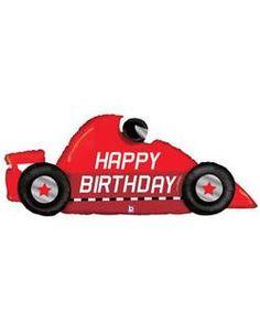 Race Car Birthday Foil Balloon – Momo Party
