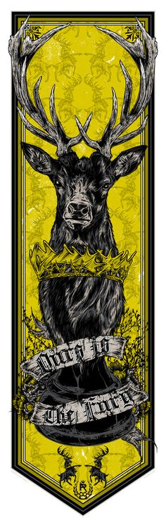 """Game of Thrones: House Baratheon Banner (""""Ours is the Fury"""") by Studio Seppuku"""