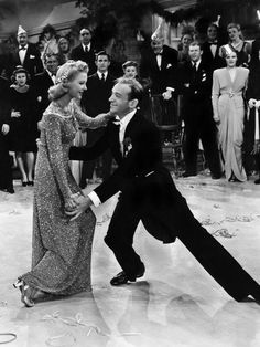 Fred Astaire dances with Marjorie Reynolds. In his autobiography, Fred Astaire wrote that he thought the best way to make the drunk dance look authentic was to actually be tipsy, so he took 2 shots of bourbon before they started filming and one more before each take and there were 7 takes in total. Most of the final scene we see is taken from the last take. Amazing!