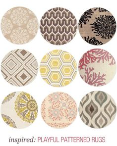 Make an impact in your living room with any of these bold, playful patterned rugs!