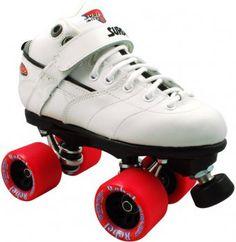 SureGrip Rebel White Derby Rollerskate