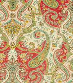 Home Dec Print Fabric-Waverly Lyrical Legend Radish, , hi-res