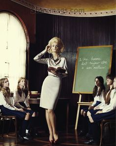 """Finishing School"" by Corrie Bond for Marie Claire Australia  https://www.facebook.com/successwithmanners"
