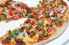 Gizzard Suya Flatbread Pizza