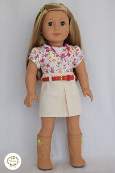 American girl doll clothes  Tee & Skirt   2 by PricessPrincess