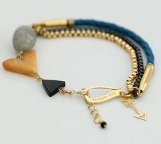Stone & chain bracelets.