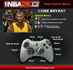 funny nba2k13 kobe bryant | Funny NBA2K13 New Player Control Moves | NBA FUNNY MOMENTS