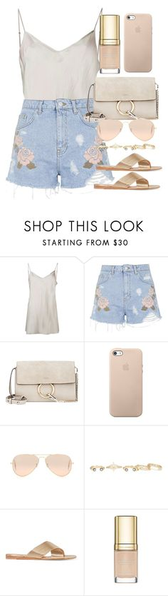"""""""Style  #10619"""" by vany-alvarado ❤ liked on Polyvore featuring Beautiful People, Topshop, Chloé, Ray-Ban, Kendra Scott, Gianvito Rossi and Dolce&Gabbana"""