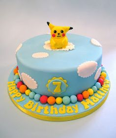 Cakes By Jacques - Beautiful Cakes, Biscuits and Cupcakes: Pokemon Cake  - Pikachu