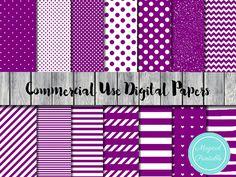 Purple Digital Papers Purple Scrapbook Papers by MagicalStudio