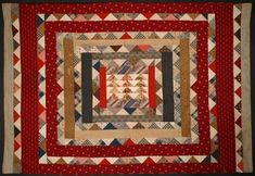 Hired Man's Center Frame Quilt: Circa 1890