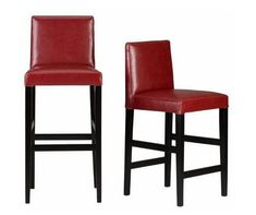 The Parsons-style chair makes for a beautiful and comfortable bar-height chair, as well.