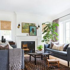 Living Room Design Ideas: Layout, Styling, Space, and Storage | Hunker Living Room Furniture Layout, Living Room Interior, Living Room Designs, Modern Furniture, Bedroom Furniture, Fireplace Furniture, Fireplace Mantle, Fireplace Ideas, Cheap Furniture