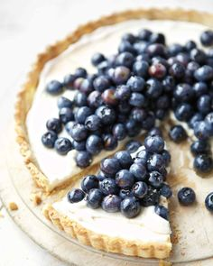 This creamy tart is overflowing with blueberries and that's good for you and your tastebuds.