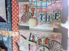 Using a fun distressing technique and Graphic 45's beautiful seaside themed papers & embellishments, craft a beach inspired keepsake worthy of display or makes a very special personalized gift.