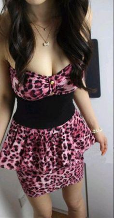 Leopard tube dress