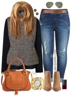 Plus Size Plaid Vest Outfit - Plus Size Fall Outfit - Plus Size Fashion for Women - alexawebb.com