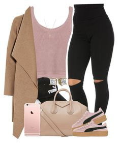 """Rose Gold. "" by livelifefreelyy ❤ liked on Polyvore featuring Puma, Givenchy, Harris Wharf London and Gucci"