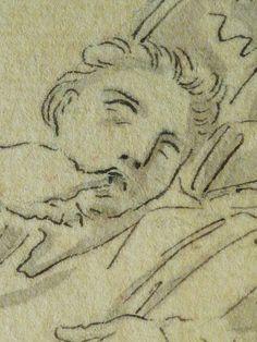 """DOMINIQUIN (d'Après) - St Nil guérit un Jeune Possédé avec l'Huile de la Lampe, Le Père et son Fils (drawing, dessin, disegno-Louvre INV9147) - Detail 05  -  TAGS /  details détail détails detalles """"dessins 17e"""" """"17th-century drawings"""" """"Italian paintings"""" """"peinture italienne"""" croquis étude Study studies sketch sketches Museum Paris France """"Domenico Zampieri"""" """"Le Dominiquin"""" """"saint Nil"""" kid kids child children  Bible man men hommes portrait portraits face """"little boy"""" garçon père father son…"""