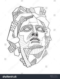 Bilderesultat for greek god polygon vector