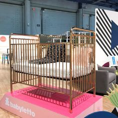 Babyletto Rose Gold Crib | 65 Top Baby Products for 2018 from the ABC Kids Expo