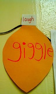 cute idea to work on synonyms and decorate the classroom for christmas!