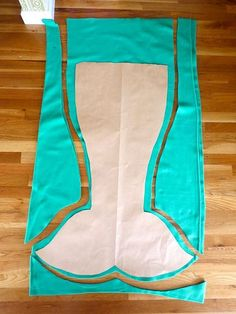 Mermaid Tail Pattern Blanket | To make sure that I got a symmetrical tail, I folded the paper in half ...