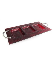 This Arbor Red Three-Section Server by Jay Import is perfect! #zulilyfinds