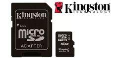 Tarjeta de memoria microSDHC 16 GB de Kingston. 7€. 40% ahorro. #ofertas #descuentos