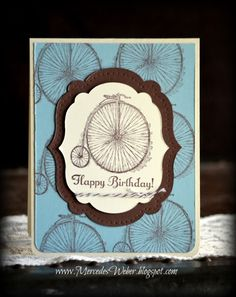 Bicycle from Stampin Up