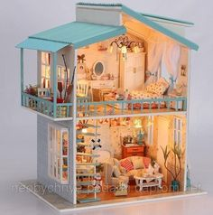 Diy small toy house - House and home design Mini Doll House, Toy House, Miniature Rooms, Miniature Houses, Doll Furniture, Dollhouse Furniture, Diy Dollhouse, Dollhouse Miniatures, Wooden Dollhouse