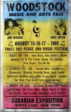 This Day in History: Aug 15, 1969: The Woodstock festival opens in Bethel, New York http://www.woodstockstory.com/upload/woodstockposter.jpg